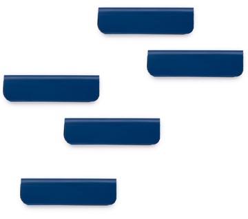 Durable Durafix clip d'affichage magnétique adhésif, 60 mm, paquet de 5 pièces, bleu foncé