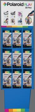Polaroid stylo 3D Play, présentoir de 18 pièces (9 x stylo 3D + 9 x filament pour stylo 3D)
