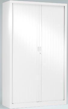 Armoire à rideaux, hauteur de 198 cm, blanc