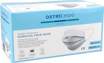 Masque chirurgical, type IIR, 3 couches, avec certificat CE, boîte de 50 pièces