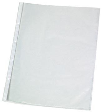 Q-Connect pochette perforée perforation 4 trous, lisse, 75 microns, paquet de 10 pièces