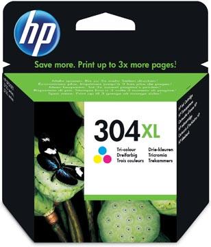 HP cartouche d'encre 304XL, 300 pages, OEM N9K07AE, 3 couleurs