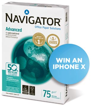 Navigator Advanced papier reprographique ft A4, 75 g, paquet de 500 feuilles