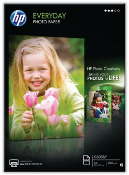 HP Everyday papier photo ft A4, 200 g, paquet de 100 feuilles, brillant