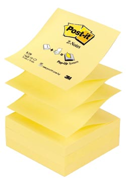 Post-it recharge Z-Notes, jaune, bloc de 100 feuilles