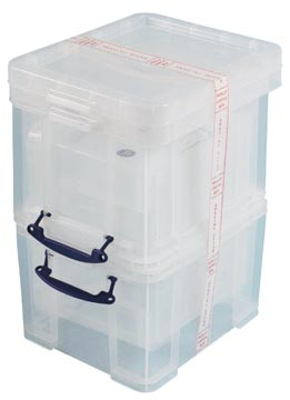 Really Useful Box 35 l, transparent, paquet de 3 boîtes