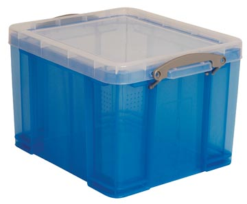 Really Useful Box boîte de rangement 35 l, bleu transparent
