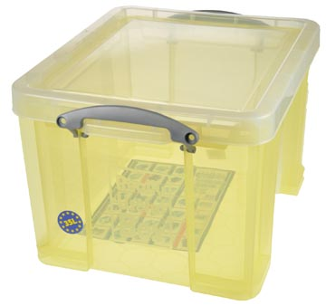 Really Useful Box boîte de rangement 35 l, jaune transparent