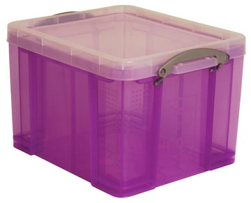 Really Useful Box boîte de rangemen 35 litres, pourpre transparent