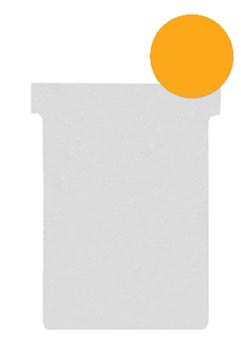 Nobo fiches T indice 2, ft 85 x 60 mm, orange