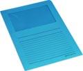 Pergamy pochette coin à fenêtre, paquet de 100 pièces, bleu